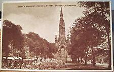 Postcard Sir Walter SCOTT'S MONUMENT Princes St Edinburgh Scotland ETW Dennis