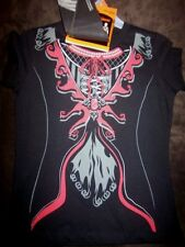 NEW girls HALLOWEEN dress up COSTUME SHIRT vampire BANDANNA SET gift size 7 8