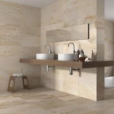 27x50 Matt Cream Stone Effect Ceramic Wall and Floor Tiles (1 SQM = 7.4Tiles)