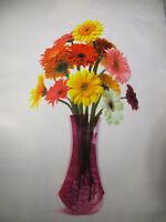 Decorative Plastic flower floral vase durable reusable collapsible collapsable