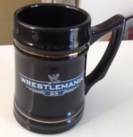 WWE WRESTLEMANIA 23 CERAMIC STEIN ULTRA RARE AND VERY HARD TO FIND COLLECTABLE