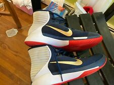 Nike High Top Basketball Shoes USA Men's Sz11 Red White Blue Worn twice NICE!