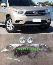 Chrome Driving / Spot / Fog Lights Fog Lamps Kit for Toyota Kluger 2011 to 2013