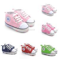 Infant Soft Sole Crib Shoes Baby Boy Girl Anti-Slip Sneaker Prewalker 0-18M