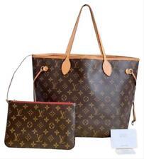 Authentic Louis Vuitton Neverfull MM W/P Brown Monogram Canvas Shoulder Bag