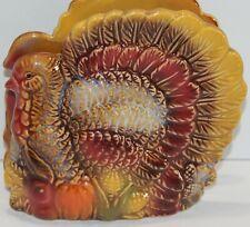 Fall Thanksgiving Turkey Ceramic Napkin Holder