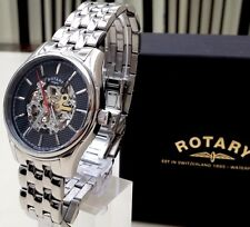 Rotary Swiss Men's Watch Skeleton Automatic Watch Used RRP £240 Boxed