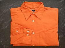 Gap Mens L/S Orange Shirt Size XS