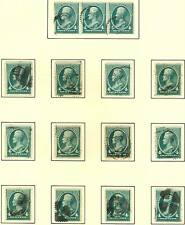 #211 WITH FANCY CANCELS -- STUNNING COLLECTION -- (12) STAMPS BT4174