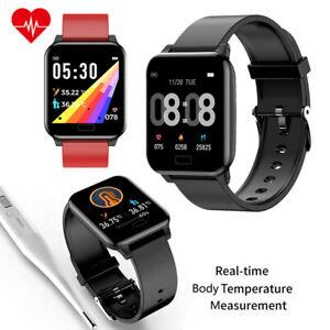 Women Men Smart Watch Body Temperature Heart Rate Sleep Monitor Sport Wristwatch