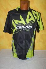 Maillot Jersey Moto Cross Homme CAN-AM  - BRP - X-Race  Noir Vert  - T : M