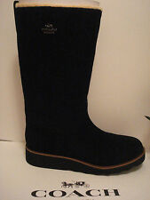 NEW AND SUPER SEXY COACH WOMEN'S VITORIA BLACK SUEDE BOOTS  - SIZE 8M
