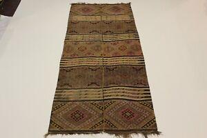 Alte Nomaden Shahsavan Sammler Kelim Perser Teppich Orientteppich 3,60 X 1,60