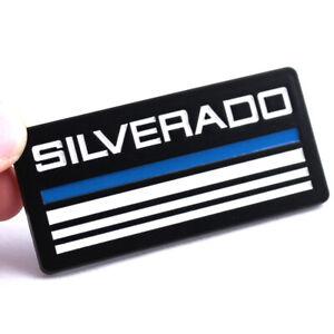 2x Blue Black Car Body Fender Emblem Metal Badge Sticker for Chevrolet Silverado