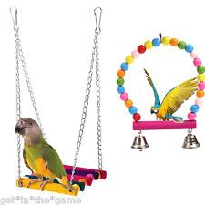 Pet Bird Swing Parrot Parakeet Budgie Cockatiel Cage Hammock Toys Hanging Toy