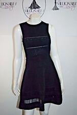 M MISSONI 80117 BLACK FEMININE DELICATE DETAILED DRESS FIT FLARE SZ 40/4