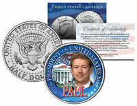 RAND PAUL FOR PRESIDENT 2016 Campaign Colorized JFK Half Dollar U.S. Coin