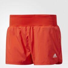 New Adidas Grete Short Women'S 1/4 Running Athlethic Shorts Core Red Sz/ Large