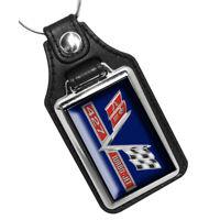 Chevrolet Twin Flags 409 Engine Emblem Design Wood Key Hanger Dog Leash Holder