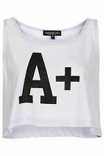 Topshop Scoop Neck Cropped Casual Tops & Shirts for Women