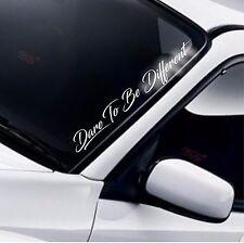 Dare To Be Different Car Windscreen Sticker Window Funny JDM Drift DUB Decal