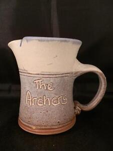 RARE THE ARCHERS BBC 1989 THE ALDRIDGE MILLENNIUM WOOD CERAMIC MILK JUG