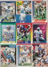 (9) card Barry Sanders mixed lot, Detroit Lions Hof