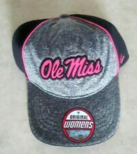 Ole Miss Rebels Womens Hat Zephyr Gray Adjustable Cap Pink Logo New Mississippi