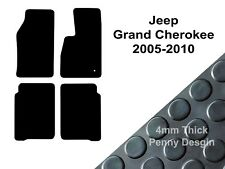 Jeep Grand Cherokee (2005 to 2010) Fully Tailored Black 4mm Rubber Car Floor Mat