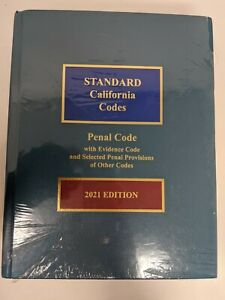 Standard California Codes Penal Code 2021 Ed. Hardcover New In Plastic Wrap