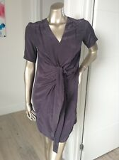 BRAND NEW designer Charcoal dress by Les petites RRP $439 100% silk Size Medium