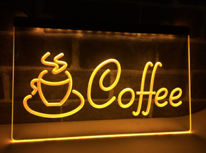 LED Coffee Sign For Cafe or Shop Open Sign Kitchen Barista AC power USB Plug