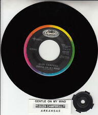 "GLEN CAMPBELL Gentle On My Mind & Arkansas NEW 7"" 45 rpm record + jukebox strip"