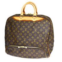 Authentic LOUIS VUITTON Evasion Hand Bag Monogram Leather Brown M41443 88MB721