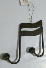 4 x 6 inch Metal Music Notes with Bells Wall Hanger Primitive  B16