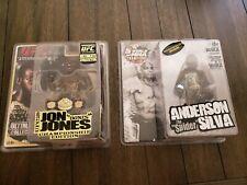 2 MMA UFC  figures Signed by  Jones Bones & Anderson Silva