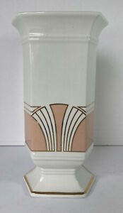 Vintage Royal Winton England Art Deco Style Hexagonal Ceramic Vase
