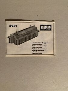 Märklin Mini Club 8981 Locomotive Shed Booklet Only