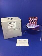 2001 Fenton Art Glass Stars & Stripes Collection, Top Hat, Limited Edition, NIB