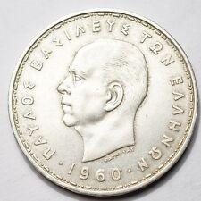 GRECE : 20 DRACHMES ARGENT 1960