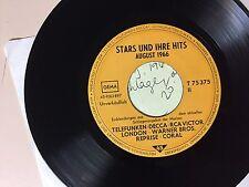 GERMAN ROCK 45 RPM - PROMO SAMPLER- TELDEC T75375