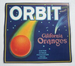 Wholesale Lot of 25 Old Vintage - ORBIT - Orange LABELS - Exeter CA. - Astronomy