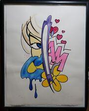 """John Matos """"Crash"""" Mixed Media Painting on Paper #2"""