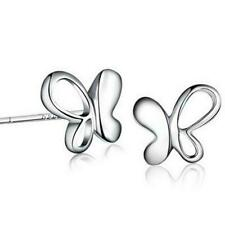 925 Sterling Silver Butterfly Shape Brand New High Quality Gift Stud Earrings