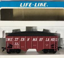 Vintage Life-Like HO Scale #8508 ~ Western Maryland Hopper Car w/Coal ~ IN BOX