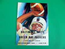 Baltimore Colts Original Vintage NFL Programs