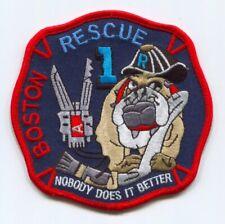 Boston Fire Department Rescue 1 Patch Massachusetts MA v3
