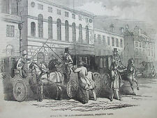 ANTIQUE PRINT 1846 ILLUSTRATED LONDON NEWS ACCOUNTANT GENERAL CHANCERY LANE
