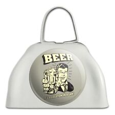 Beer It's a Vacation in a Can Funny White Cowbell Cow Bell Instrument