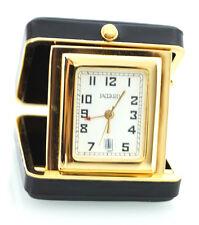 Mini pendulette de voyage noire dorée Jaccard Riverside, avec affichage date